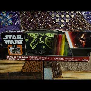 Star Wars Other - NWT Star Wars Glow in the Dark Poster Activity Set
